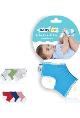 Babyjem Bebek Çorap Tutucu Beyaz/Pembe