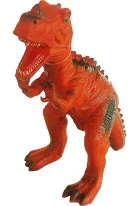 Sunman Sesli Oyuncak Orta Boy Dinozorlar Serisi Turuncu 30 cm