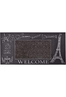 B'Home B'Home Paris Kapı Önü Paspas 40x80 cm Gümüş