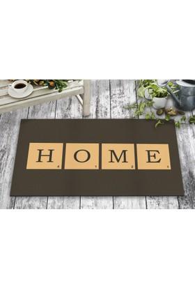 B'Home B'Home Scrabble Home Tasarım Kapı Önü ve Ev İçi Paspas 45x75 cm
