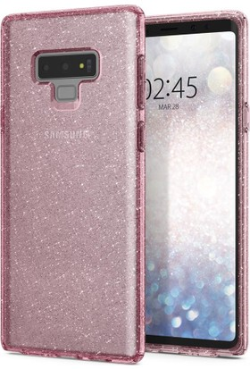 Spigen Samsung Galaxy Note 9 Kılıf Liquid Crystal Glitter Rose Quartz - 599CS24571