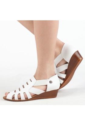 Mammamıa Kadın Dolgu Topuklu Sandalet