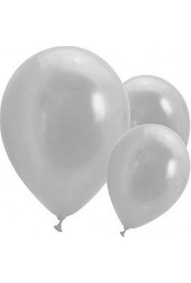 Metalik Gümüş Balon