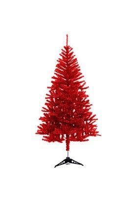 Kırmızı Yılbaşı Çam Ağacı 180 cm 350 Dal