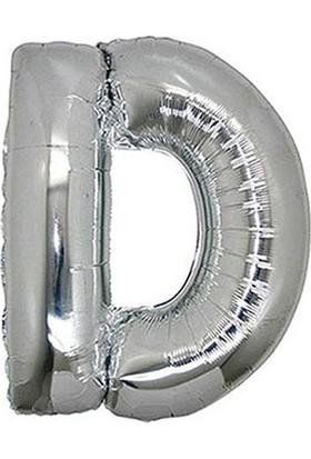 D Harf Gümüş Folyo Balon 40cm