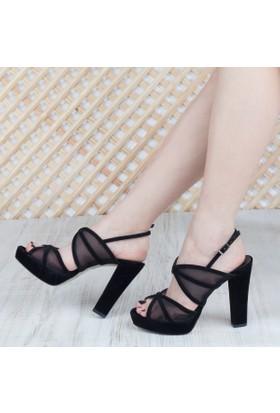 Mıtto Kadın Platform Topuklu Sandalet