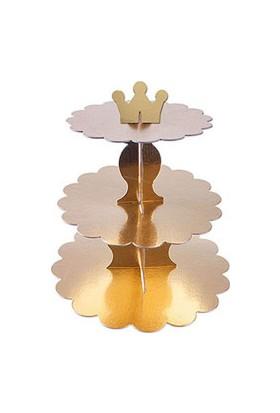 Altın Cupcake Standı