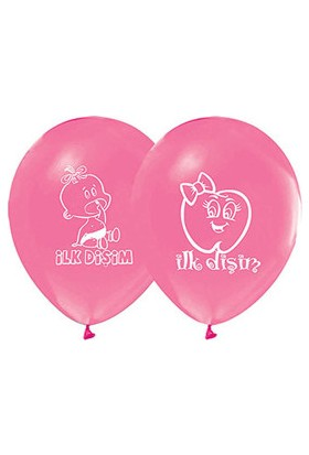 İlk Diş Pembe Balon