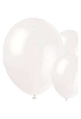 Metalik Beyaz Balon