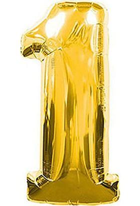 1 Rakam Altın Folyo Balon 40cm
