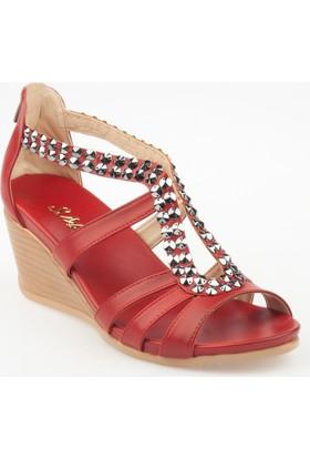 Sms Kadın Dolgu Topuklu Sandalet