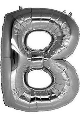 B Harf Gümüş Folyo Balon 40cm