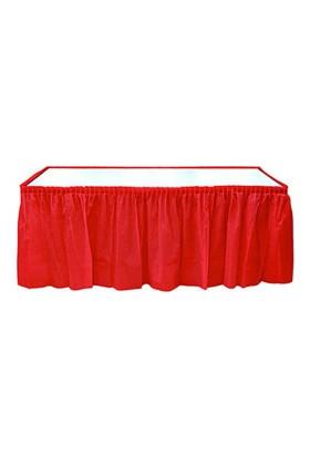 Roll-Up Kırmızı Plastik Masa Eteği
