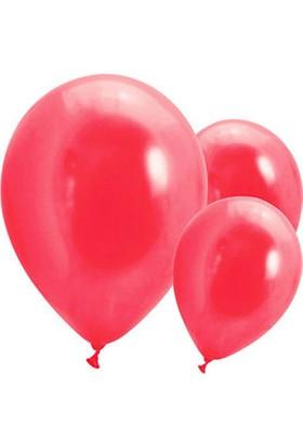 Metalik Kırmızı Balon