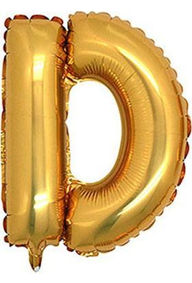 D Harf Altın Folyo Balon 40cm
