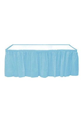 Roll-Up Bebek Mavisi Plastik Masa Eteği