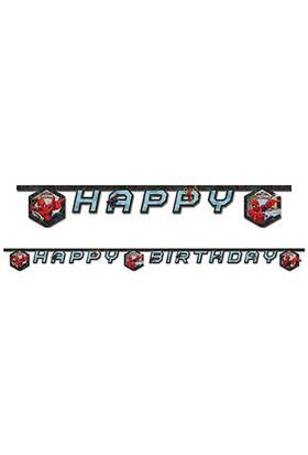 Spiderman Savaşçı Happy Birthday Harf Afiş