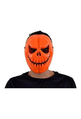 Cadılar Bayramı-Halloween Turuncu Kurukafa Maske