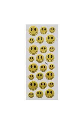 Gülen Yüz Sticker Orta Boy 24 lü