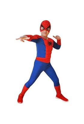 Spiderman Kaslı Çocuk Kostüm 7-9 yaş
