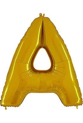 A Harf Altın Folyo Balon 40cm