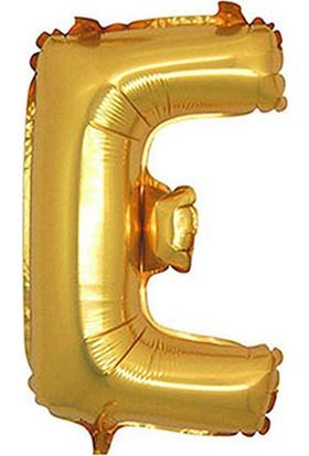 E Harf Altın Folyo Balon 40cm