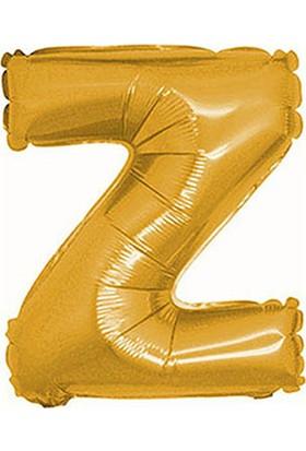 Z Harf Altın Folyo Balon 40cm
