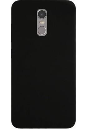 Case 4U Lenovo K6 Note Slim Rubber Kılıf Siyah + Cam Ekran Koruyucu