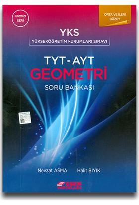 Esen Yayınları YKS TYT-AYT Geometri Soru Bankası Kırmızı Seri