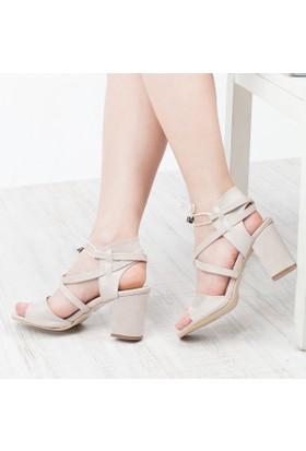 Perim Ayakkabı Kadın Topuklu Sandalet