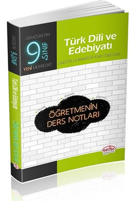 Editör Yayınları 9. Sınıf Türk Dili Edebiyatı Öğretmenin Ders Notları