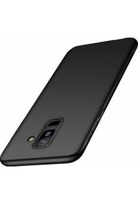 Case 4U Samsung Galaxy J8 Kılıf Mat Silikon Kılıf - Premier - Siyah