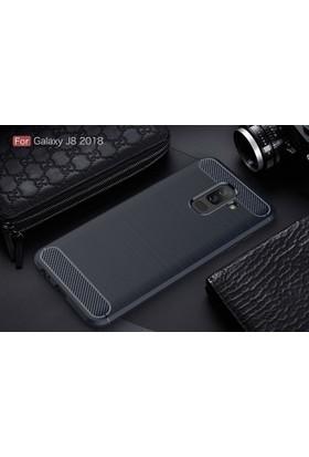 Case 4U Samsung Galaxy J8 Kılıf Darbeye Dayanıklı Room Arka Kapak - Siyah