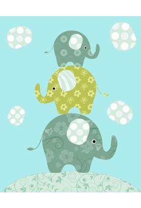 Özverler Elephant Kanvas Tablo COGE-204