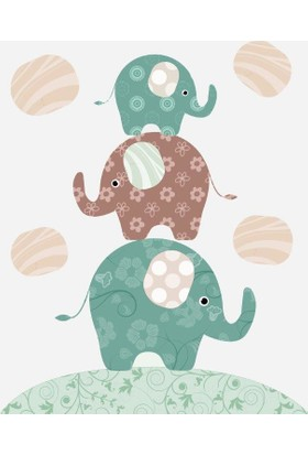 Özverler Elephant Kanvas Tablo COGE-204B