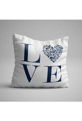 Kırlenthome Love Kırlent Kılıfı Lacivert