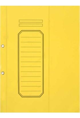 Alemdar Yarım Kapak Karton Telli Dosya Lüks 25Li Paket