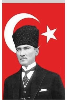 Buket Bayrak Atatürk Ve Türk Bayrağı 100Cmx150Cm