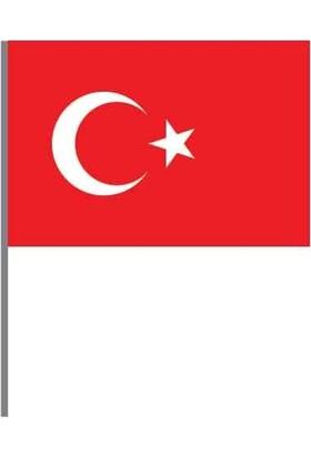Buket Türk Bayrağı 30X45 Sopalı Alpaka Lü Paket