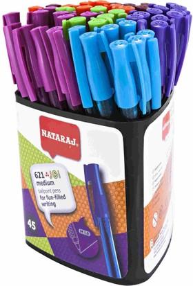 Nataraj 621 Tükenmez Kalem Karışık Renkler 45Li Paket