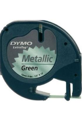 Dymo Plastik Şerit - Letra Tag İçin-12Mmx4Mt Metalik Yeşil