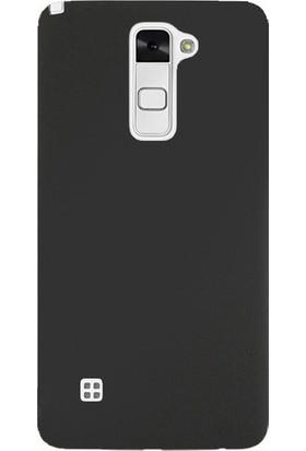 Ehr. LG Stylus 2 Premier Ultra Lüx Soft Mat TPU Silikon Kılıf + Ekran Koruyucu Cam