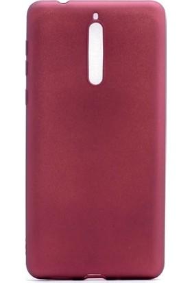 Ehr. Nokia 8 Premier Ultra Lüx Soft Mat TPU Silikon Kılıf + Ekran Koruyucu Cam