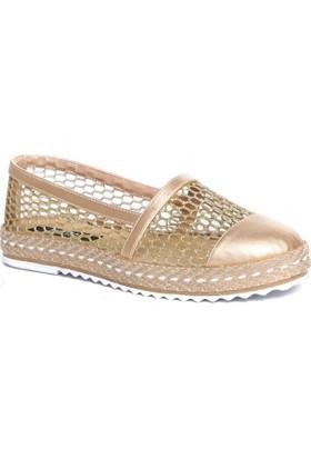 Kuum Bayan Ayakkabı Altın Kz31050