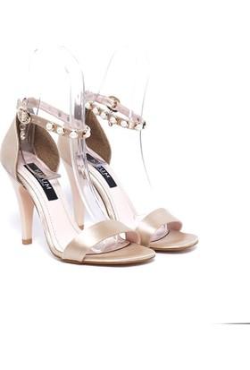 Kuum Topuklu Ayakkabı Bej Kz1109