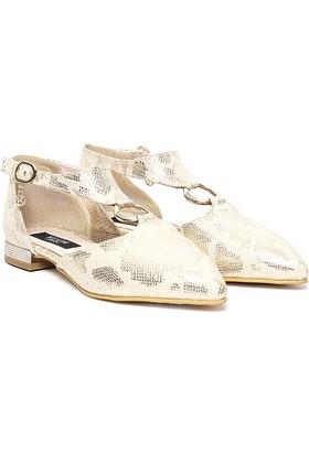 Kuum Sandalet Altın Kz1003
