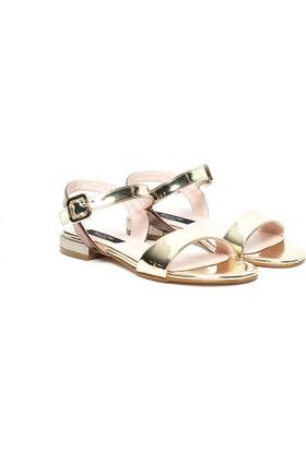 Kuum Kadın Sandalet Altın Kz1002