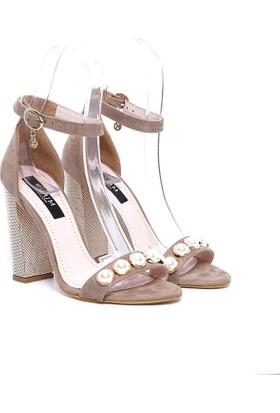 Kuum Topuklu Ayakkabı Bej Kz1307