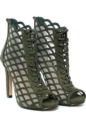 Kuum Topuklu Ayakkabı Yeşil Kz158950
