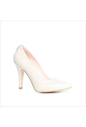 Kuum Bayan Topuklu Ayakkabı Bej 18064-10